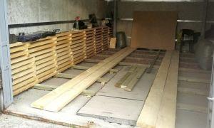 Сооружение деревянного пола в авто боксе