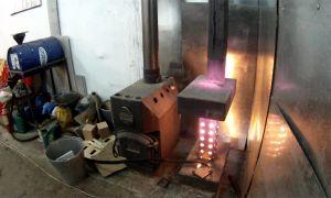 Гаражная печь на отработке — как соорудить самому?