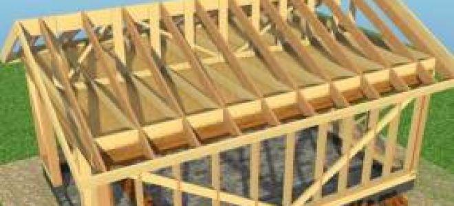 Деревянная крыша для гаража