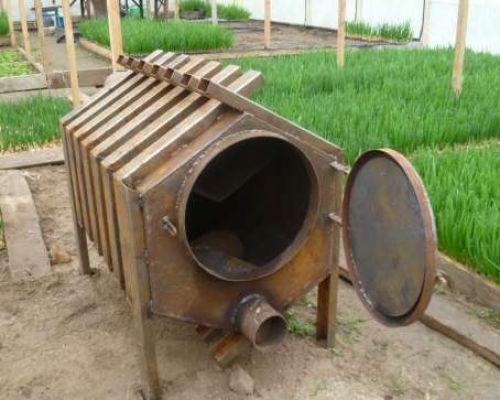 Самодельная газовая печь для обогрева гаража