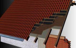 Крыша из профнастила для гаража