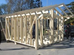Каркас деревянного гаража