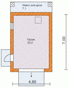 Планирование гаража из кирпича