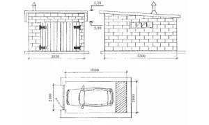 Схема гаража из шлакоблоков