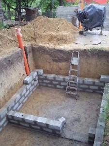 Погреб в гараже - стены