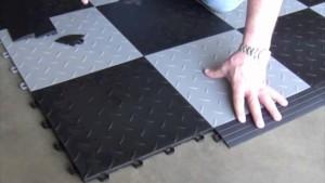 Резиновый плитка для гаража