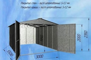 Схема металлического гаража своими руками