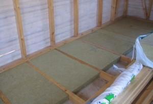 Утепления деревянного пола в гараже