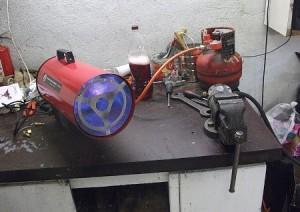 Газовая печь для обогрева гаража