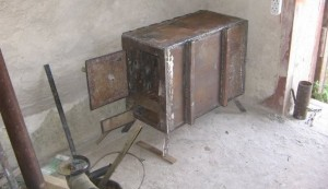 Металлическая дровяная печь